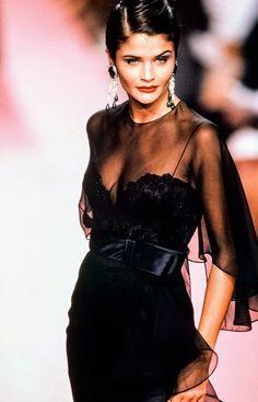 Helena Christensen for Valentino Haute Couture Fall/Winter 1991