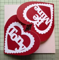 Husband's valentine card cut with scan n cut.