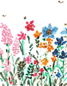 Spring has sprung! #izakzenou #izak #illustration #flowers #trafficnyc