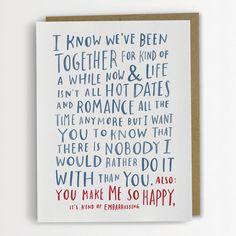 Peinlich Liebe lustig Liebe Karte, Valentinstags-Karte von Emily McDowell Hochzeitstag / Nr. 142 - C