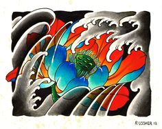 Lotus Flower by Ryan Ussher - old one