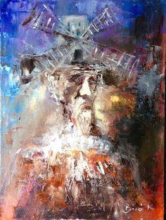 Konrad Biro Art - Don Qiixote oil canvas