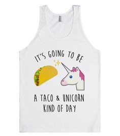 It's going to be a taco and unicorn kind of day. Cute taco & unicorn emoji. Also available in other styles and colors.