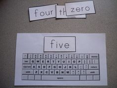 For sight words. Just another fun way to reinforce :) (Multisensory reinforcement would be to have the student say each letter as he or she types it.)