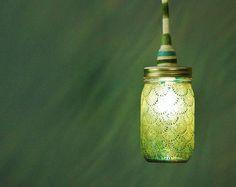 Lámpara colgante de tarro de masón casa ecléctica por LITdecor