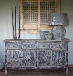 bijzonder uniek houten dressoir no.007 sober landelijk stoer 1