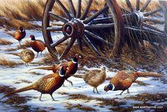 Rosemary Millette Winter Rendezvous- Pheasants