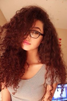 Geeky with curls