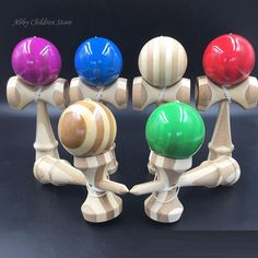 Bamboo Kendama Skillful Sword Juggling Ball Game Toy Professional Bamboo Kendama Toy Balls For Children Adult Christmas Gift