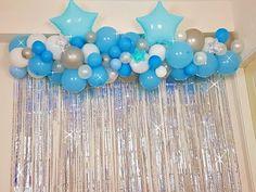 Balloon Arch Diy, Balloon Bouquet, Balloon Garland, Birthday Balloon Decorations, Birthday Party Centerpieces, Birthday Balloons, Pink And Gold Birthday Party, Birthday Parties, Blue Party Themes