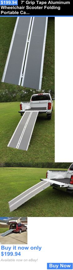 Access Ramps: 7 Grip Tape Aluminum Wheelchair Scooter Folding Portable Carrier Ramp 6 8 Van BUY IT NOW ONLY: $199.94