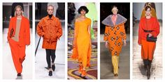 Colori di tendenza per l'autunno inverno 2017-2018: l'arancio Milan, Fashion Show, Kimono Top, Celebrities, Trends, Inspiration, Clothes, Orange, Tops