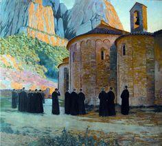 'Santa Cecília', Montserrat - Santiago Rusiñol i Prats (Barcelona, Catalonia, 1861 – Aranjuez, Spain, 1931), Catalan painter, writer, journalist and playwright.