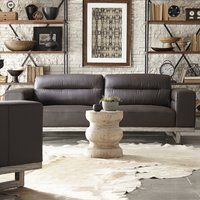 Ignazio Configurable Living Room Set - Modern, casual, and sophisticated, the collection invites you to sit down and relax. Set atop a simple, yet elegant solid birch base with ash veneer, the smooth cushions and wide arms create a comfortable environment to unwind or entertain.