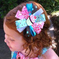 Birthday Rosette hair ribbon