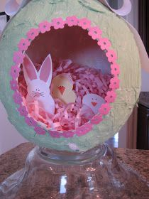 CLEAN MAMA: Messy Monday - Panorama Sugar Egg Meets Paper Mache' Egg