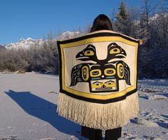 For Anna Brown Ehlers, the Chilkat blanket isn't just art – it's a lifelong passion. Native American Regalia, Native American Beauty, Reverse Applique, Tlingit, Indigenous Art, Aboriginal Art, People Of The World, Native Art, First Nations