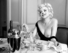 Buy Prints of Marilyn Monroe - After Dinner Coffee, a Digital Photography on Paper, by Jeffrey Yarber from United States, Not for sale, Price is $, Size is 8.5 x 11 x 0.1 in.