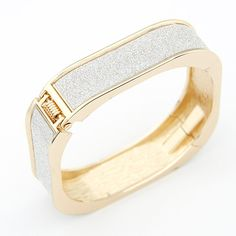 Fashion Elegant Gold Silver Geometric Square Cuff Bracelet Charm Bracelets & Bangles for Women Men Jewelry