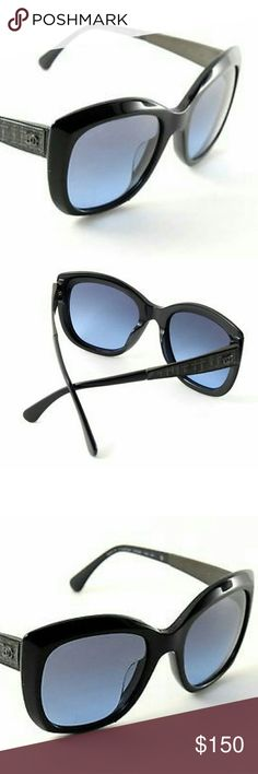 CHANEL 5347A.1426/S2 Dark Blue There are some hairline scratches on both lenses, frame and temples (too small to take a picture). Scratches on lenses do not interfere with vision.   Authentic 100% sunglasses. case not  included.Sunglasses would be rated with 8 out of 10. CHANEL Accessories
