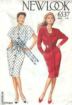 Simplicity New Look 6537 Sewing Pattern for 2 Styles of Dress - sizes 8-20 by CarlasHope on Etsy