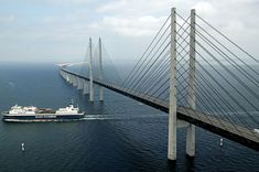 This unique roadway connects the Danish capital of Copenhagen to the Swedish city of Malmö. The Øresund, designed by the Danish architect George K.S. Rotne, was opened on July 1, 2000. The bridge stretches about eight kilometres before transitioning through an artificial island into a four-kilometre tunnel under the Flint Channel.