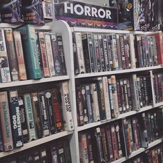 Horror movies at a video store