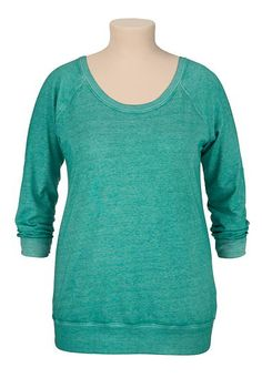 long sleeve burnwash plus size sweatshirt (original price, $29) available at #Maurices
