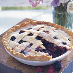 Deep-Dish Bumbleberry Pie~triple tested at the Good Housekeeping Research Institute.