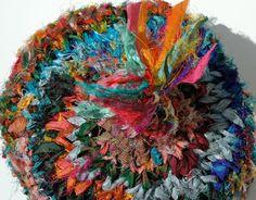 Sari Silk Ribbon Colorful Hand Knit Hat. Like Opening A Box of Crayons. $44.00, via Etsy.