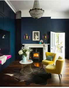 Perfect Navy Blue Living Room with Best 25 Navy Living Rooms Ideas On Home Decor Navy Blue Living Navy Blue Living Room, Blue Rooms, New Living Room, My New Room, Living Room Decor, Dark Blue Dining Room, Living Room Ideas Dark Blue, Small Living, Dark Blue Lounge