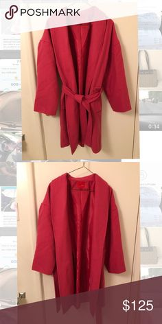 Narciso Rodriguez Pink Coat Narciso Rodriguez Pink Trench Coat in like new condition Narciso Rodriguez Jackets & Coats Trench Coats