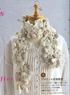 lovely flower scarf