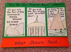 Jesus is Tempted Cut & Glue Worksheet Freebie | Bible ...