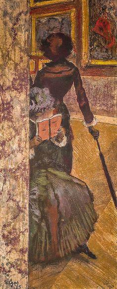 Edgar Degas - Mary Cassatt at the Louvre The Painting Gall… | Flickr