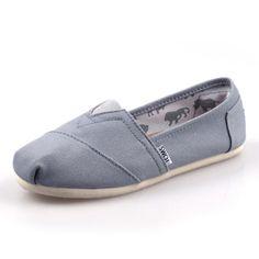 Toms Womens Classics Shoes Light Grey