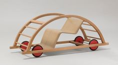 German design wooden car. Amazing climbing and imagination toy...can you even call this a toy?