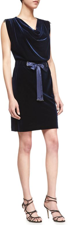 Laundry by Shelli Segal VELVET DRESS W TIED SASH on shopstyle.com
