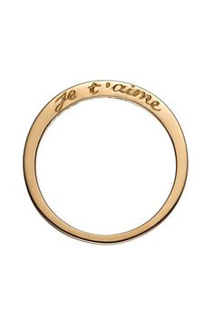 Gold Je t'aime Ring