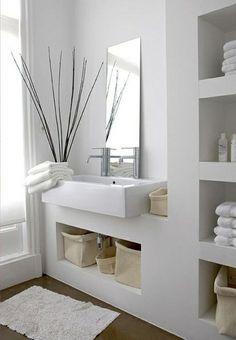 Design Ideas Modern bathroom ideas - cool bathroom furniture Design IdeasSource : Moderne Badezimmer Ideen - coole Badezimmermöbel by Zen Bathroom Decor, Modern Bathroom Design, Bathroom Interior Design, Bathroom Furniture, Small Bathroom, Bathroom Ideas, White Bathroom, Bathroom Images, Vanity Bathroom