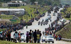 Nelson Mandela's funeral procession captured in 360 degree panorama : Telegraph  #Mandela
