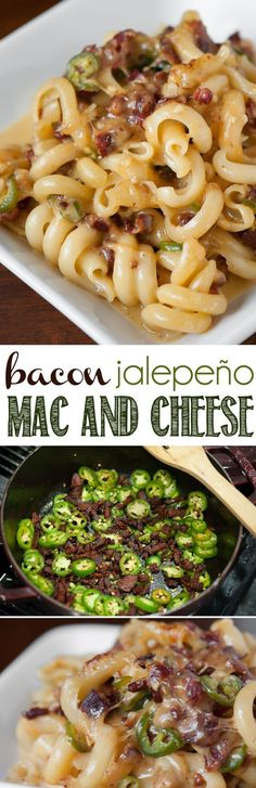 Bacon Jalepeño Mac and Cheese has just the right amount of heat and salty crunch to make it the best homemade macaroni and cheese! #bacon #jalapeno #baconjalapeno #macandcheese