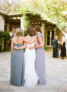 Gorgeous #purple #bridesmaids #dresses Photography by @Sylvie Gil