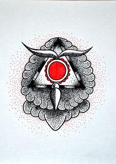 #dotwork #tattooflash #geometry #owl