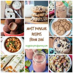 Top Ten Most Popular Recipes from 2016 from Veggie Inspired. The Most Viewed recipes of the year! Thanks to you all and Cheers to Great Vegan Recipes, Most Popular Recipes, Dairy Free Recipes, Lunch Recipes, Dessert Recipes, Pasta Recipes, Vegan Sweets, Vegan Food, Easy Vegan Dinner