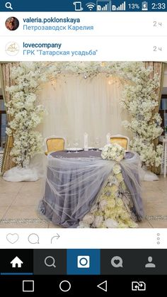 Beautiful wedding table