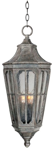 Three Light Outdoor Hanging LanternThree Light Outdoor Hanging Lantern     ID #: 403853    List Price:$408.00  $272.00   You Save:$136.00     Quantity:   Add to Wishlist      Manufacturer:  Maxim  MFG #:  40157CDSE  Collection:  Beacon Hill VX  Finish:  Sienna    99 items in Factory Stock (as of 11/10/2013)