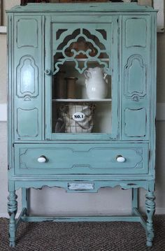 {createinspire}: Depression Era Hutch Redo  I would love to find a similar piece to redo like this