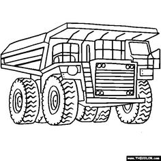 digger coloring pages for kids | Coloring Page for boys - trucks and diggers | Kids