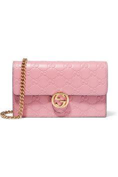 Gucci | Icon geprägte Schultertasche aus Leder | NET-A-PORTER.COM